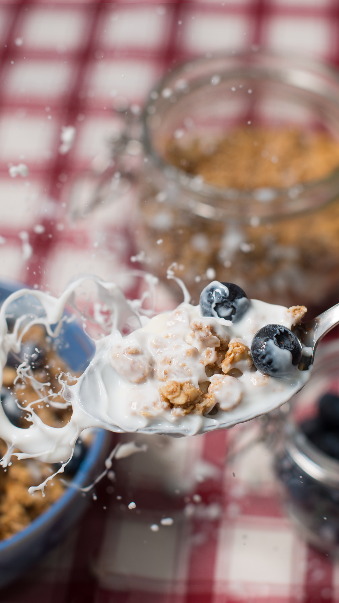 Cereal splash food and beverage photography