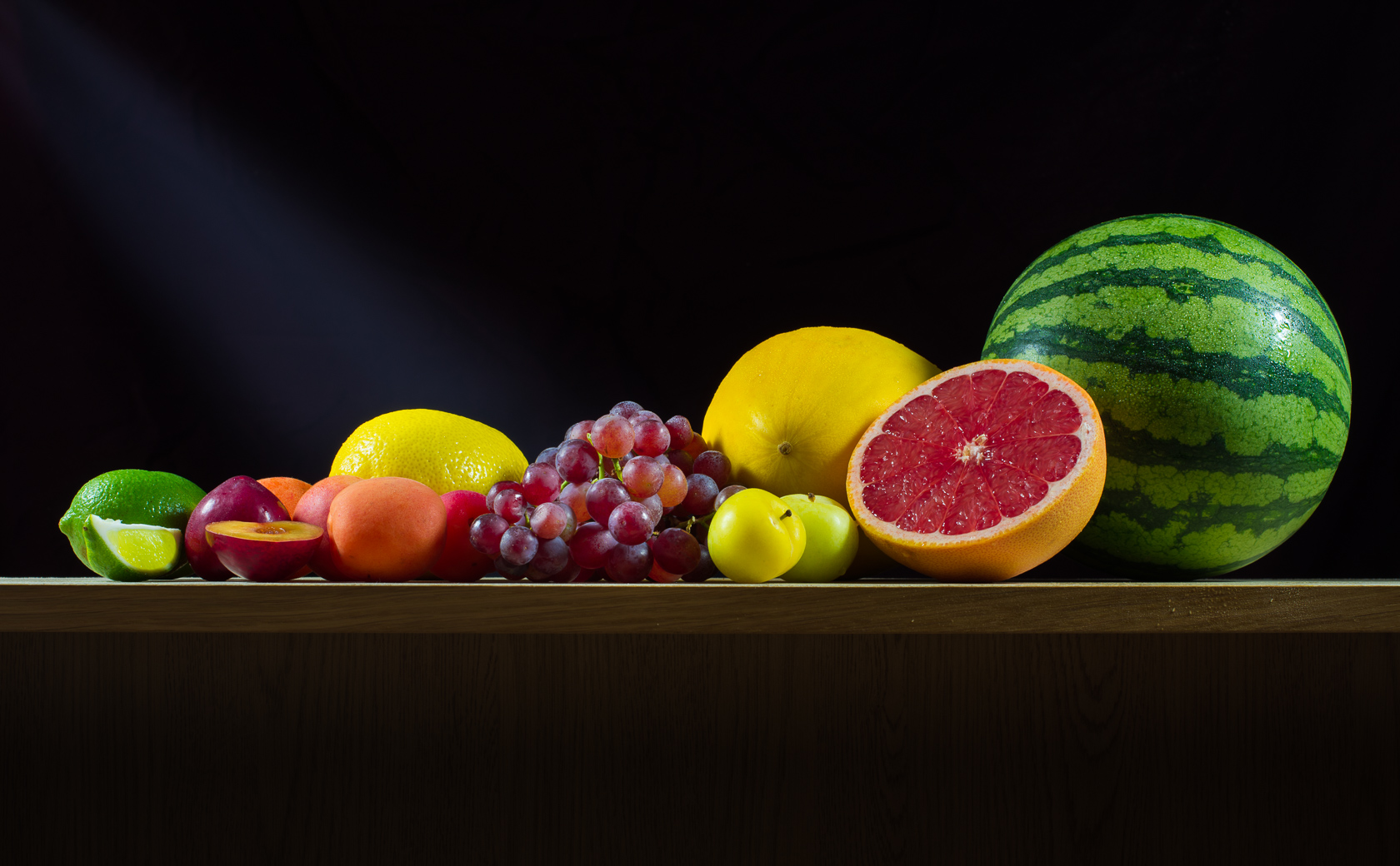 Table of fruit food and beverage photography