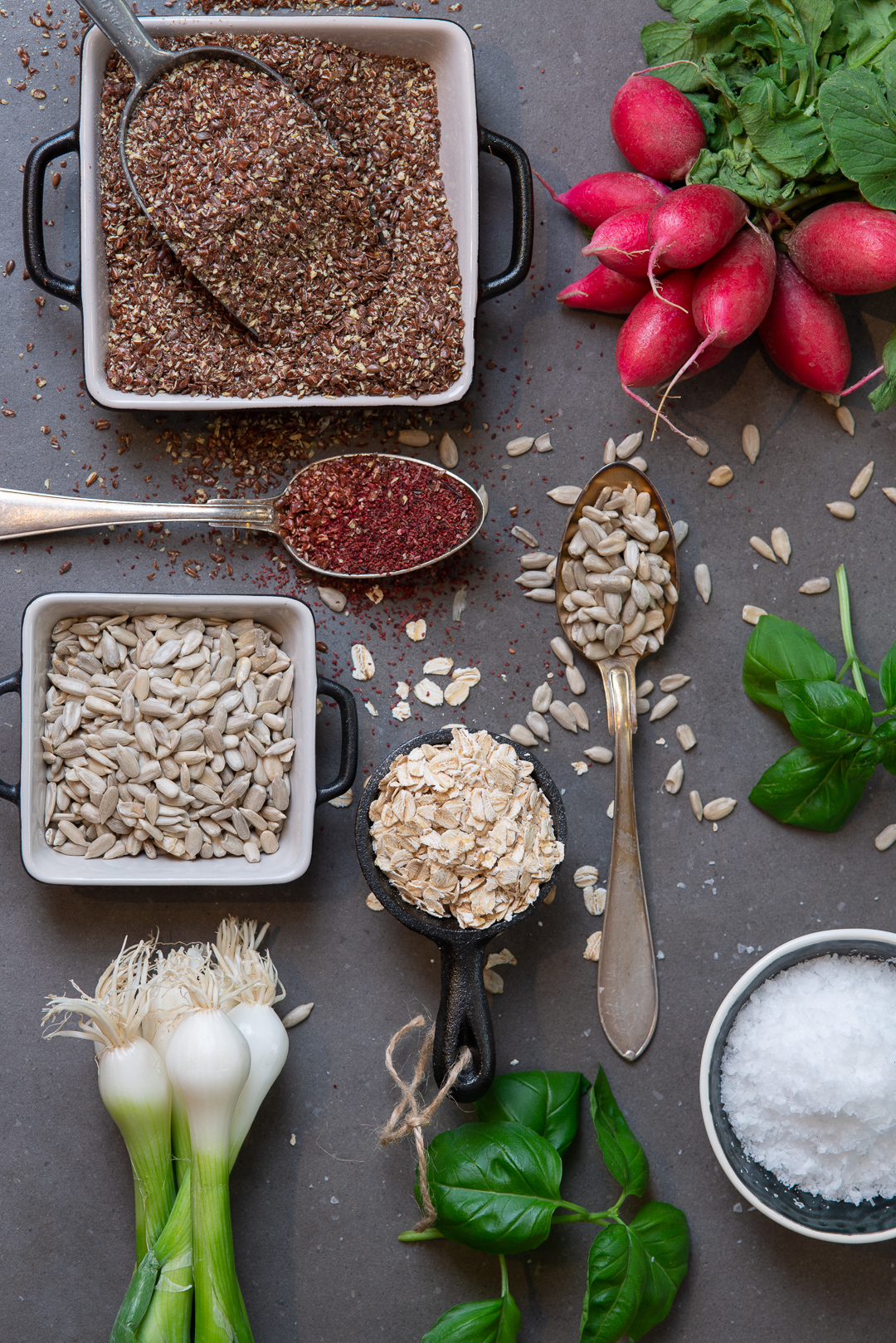Herbs and seeds food and beverage photography