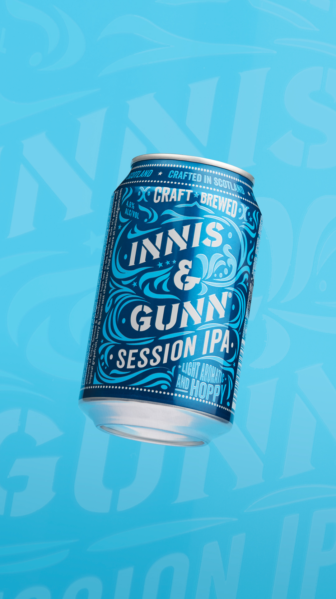 Innis & Gunn beer can - product photography