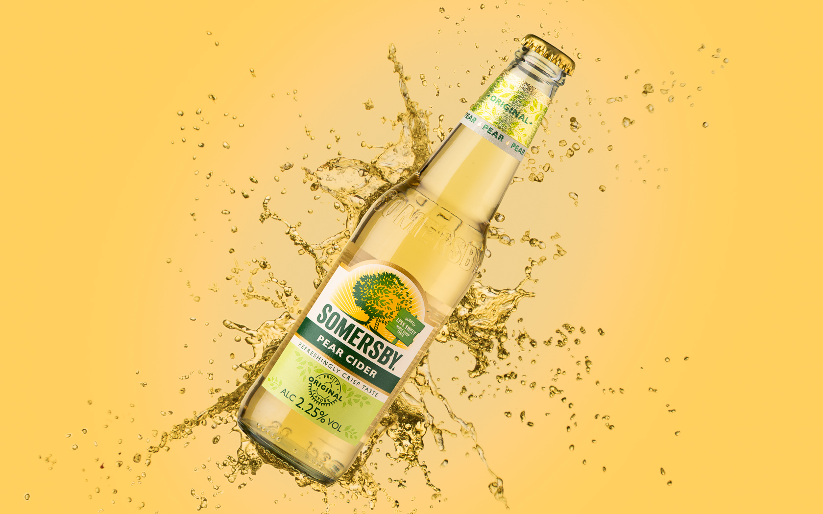 Somersby pear cider food and beverage photography