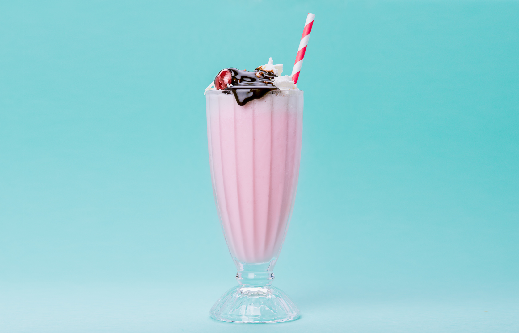 Strawberry Milkshake food and beverage photography